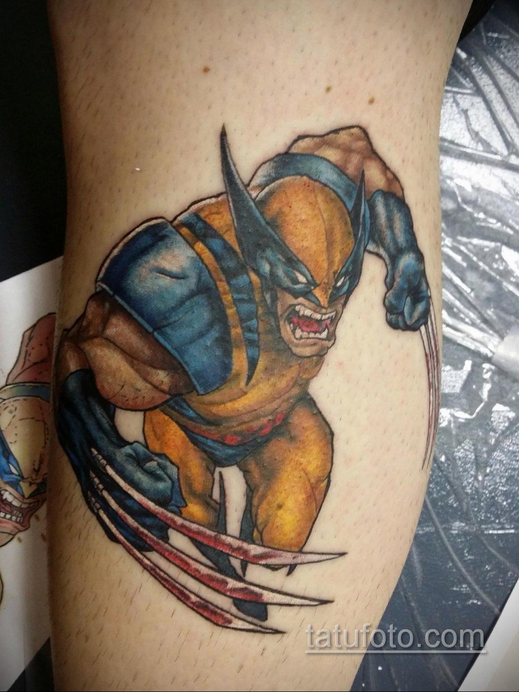 Тату супергерой Росомаха 15.01.2020 №014 -Marvel Tattoo- tatufoto.com