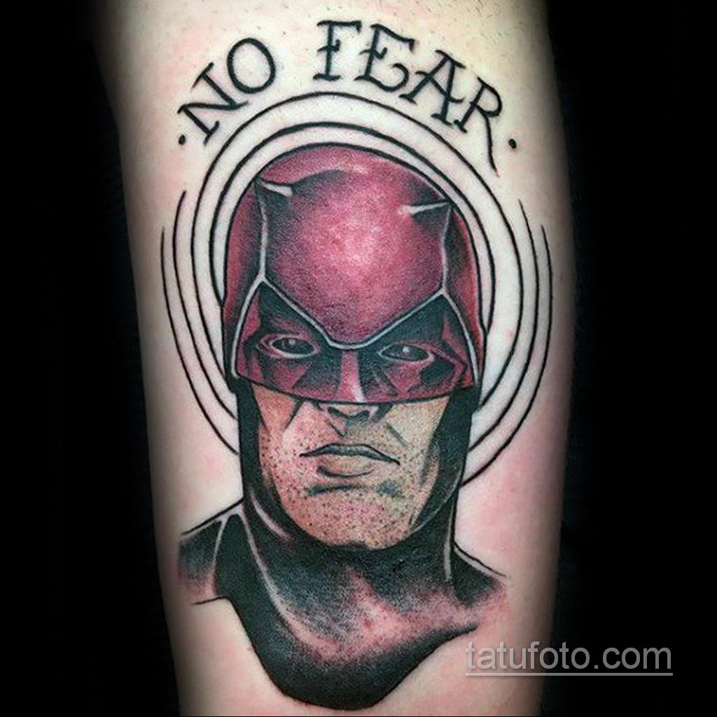 Тату супергерой Сорвиголова 15.01.2020 №006 -Daredevil Superhero Tattoo- tatufoto.com