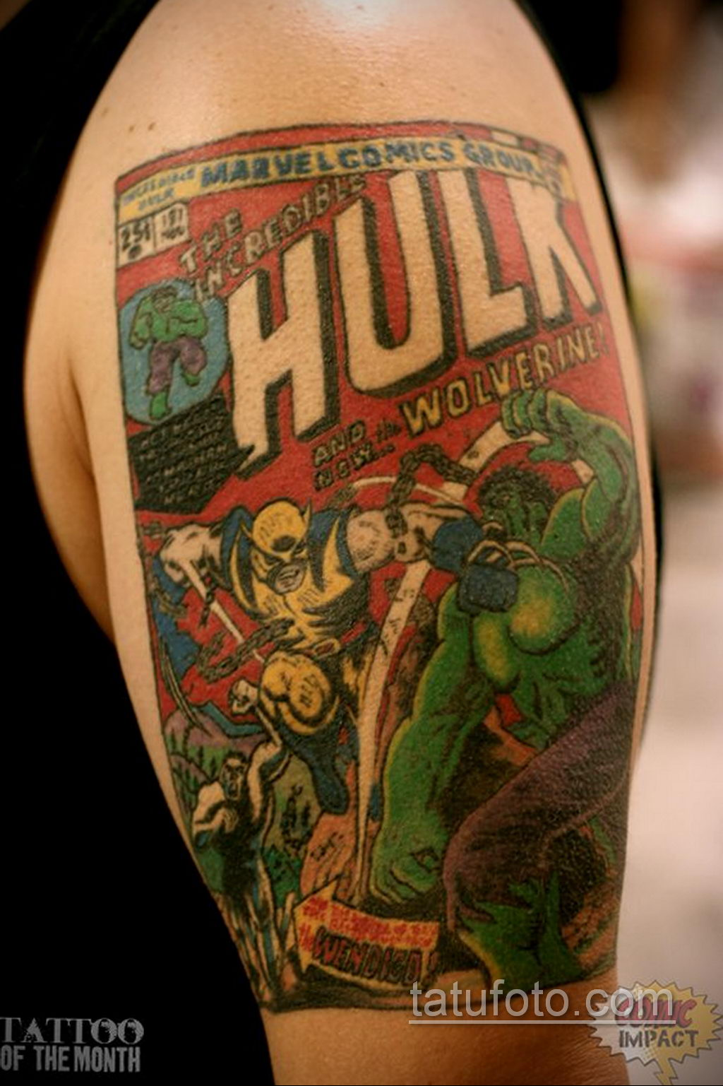 Тату супергерой Халк 15.01.2020 №011 -Marvel Tattoo- tatufoto.com