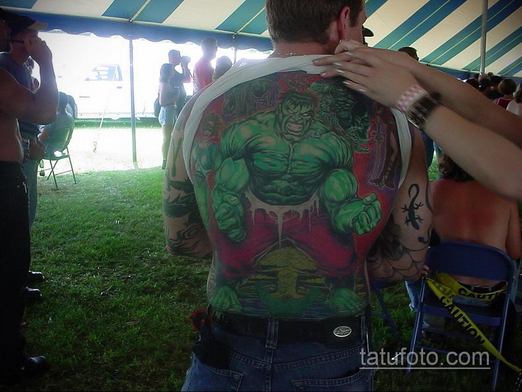 Тату супергерой Халк 15.01.2020 №016 -Marvel Tattoo- tatufoto.com