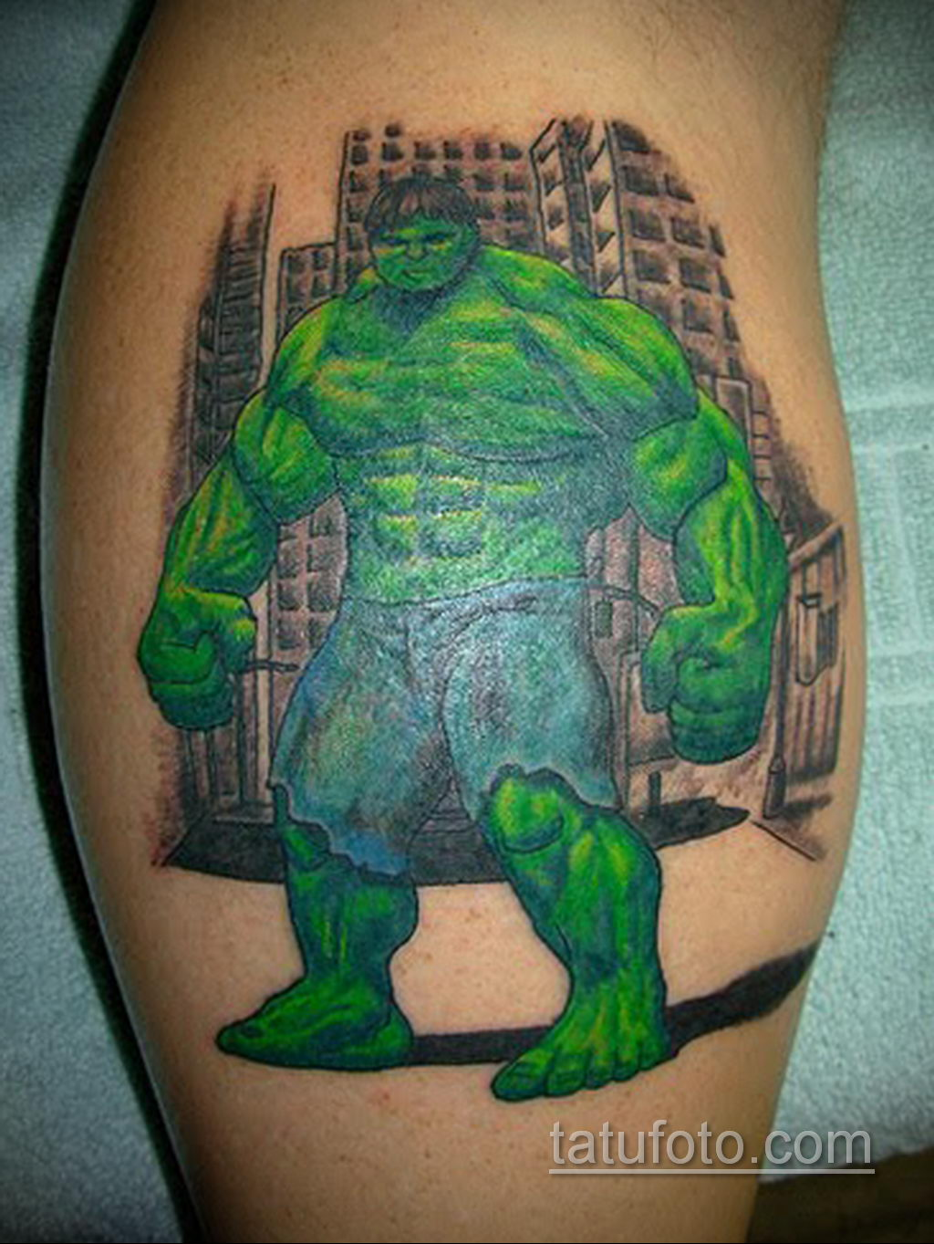 Тату супергерой Халк 15.01.2020 №024 -Marvel Tattoo- tatufoto.com
