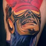 Тату супергерой Циклоп 15.01.2020 №001 -Marvel Tattoo- tatufoto.com