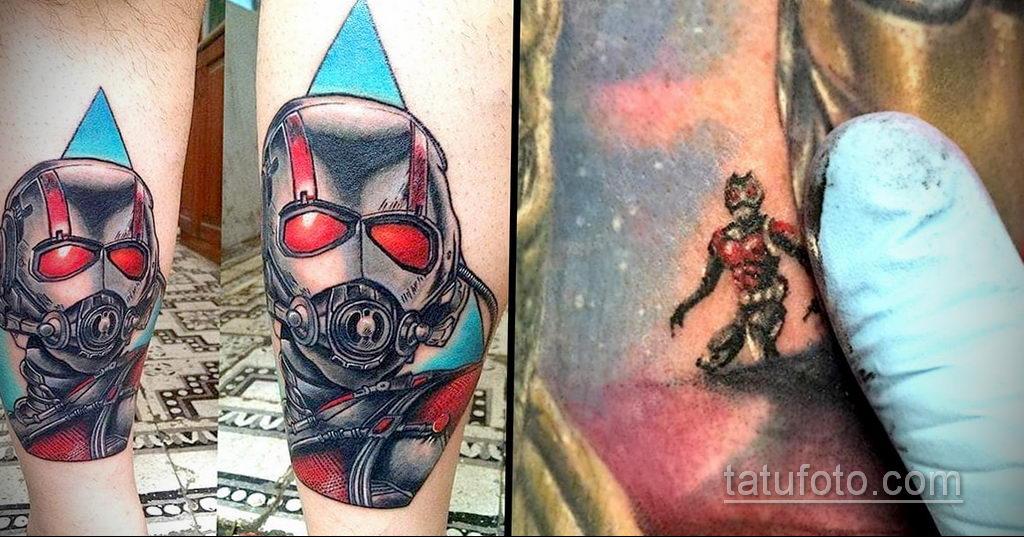 Тату супергерой Человек-муравей 15.01.2020 №002 -Marvel Tattoo- tatufoto.com