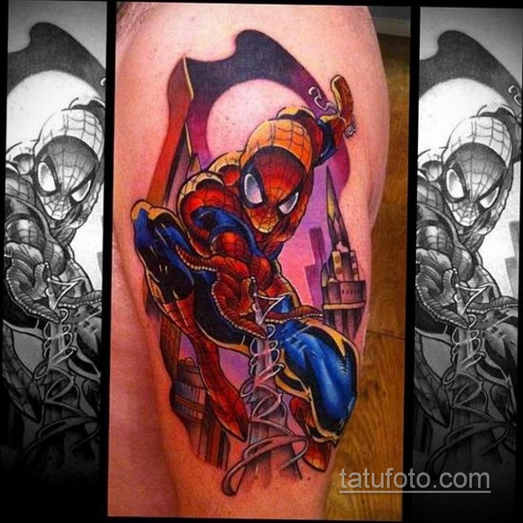 Тату супергерой Человек-паук 15.01.2020 №004 -Marvel Tattoo- tatufoto.com