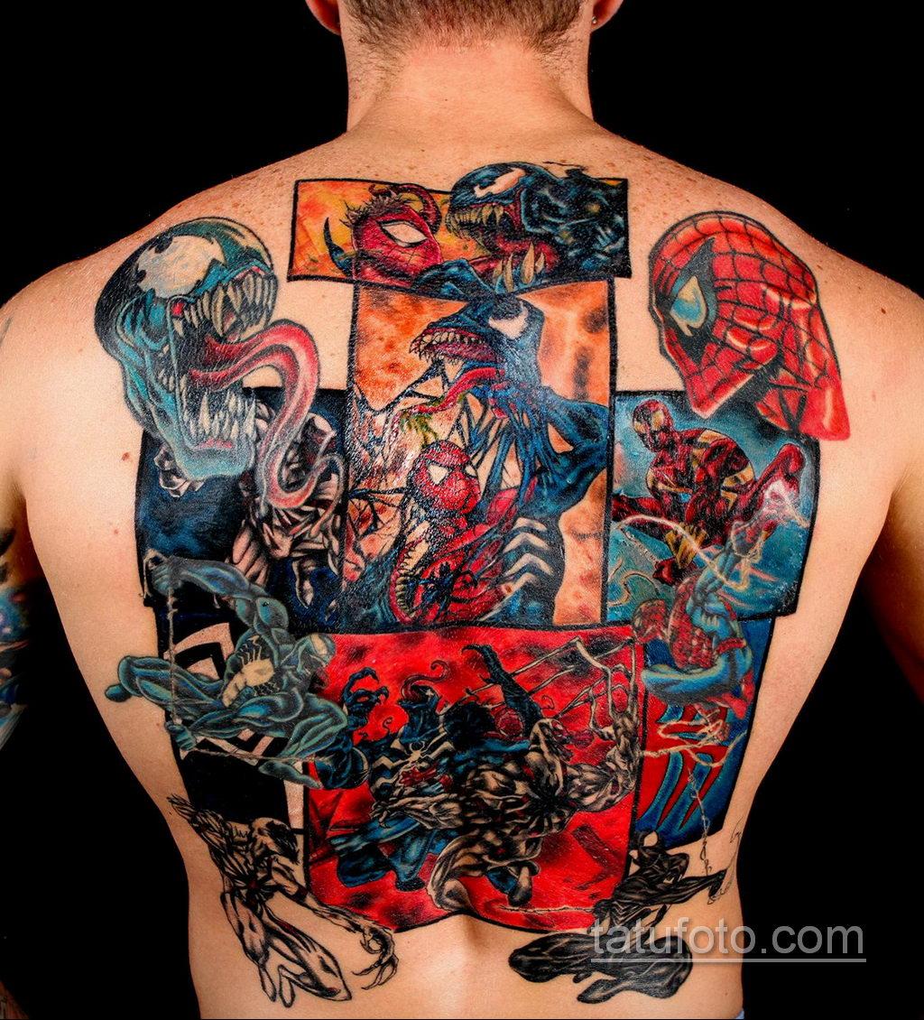 Тату супергерой Человек-паук 15.01.2020 №007 -Marvel Tattoo- tatufoto.com