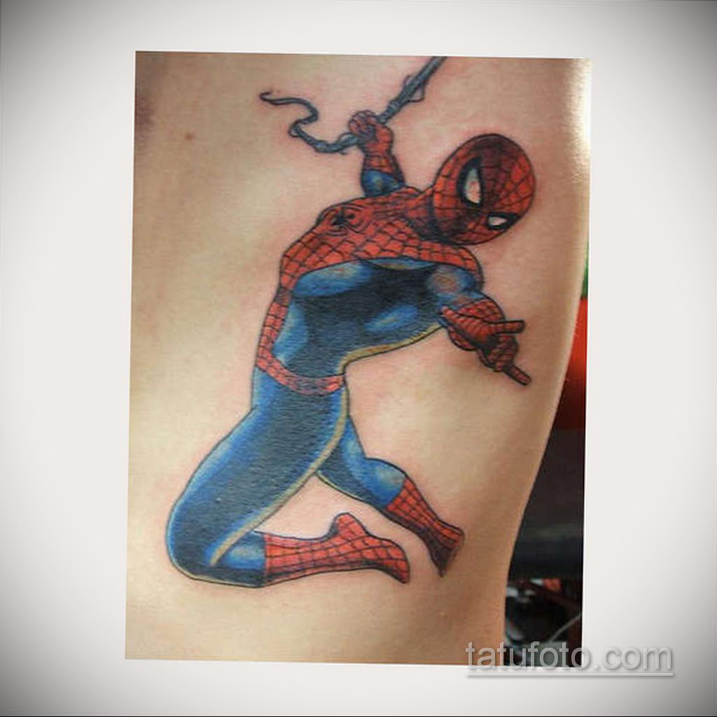 Тату супергерой Человек-паук 15.01.2020 №008 -Marvel Tattoo- tatufoto.com