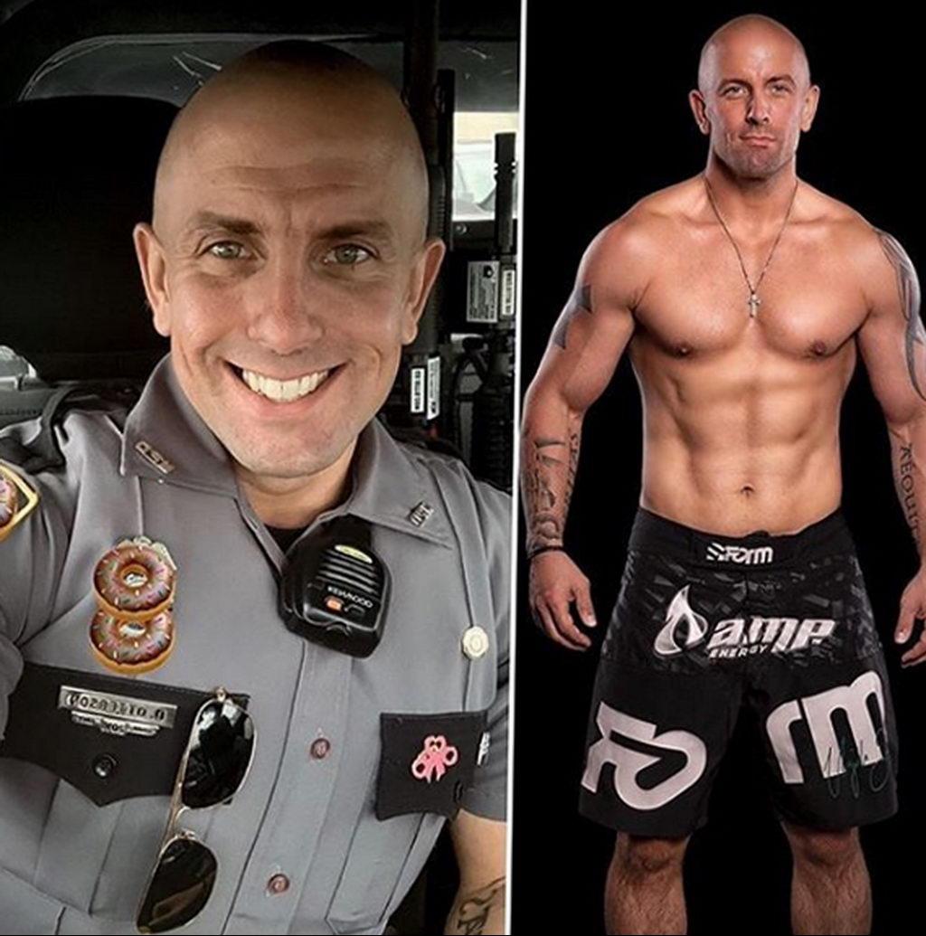 Фото действующего сотрудника полиции в форме с татуировками на теле для tatufoto.com 3