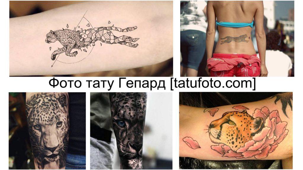 Фото тату Гепард - коллекция готовых рисунков татуировки и информация про их особенности