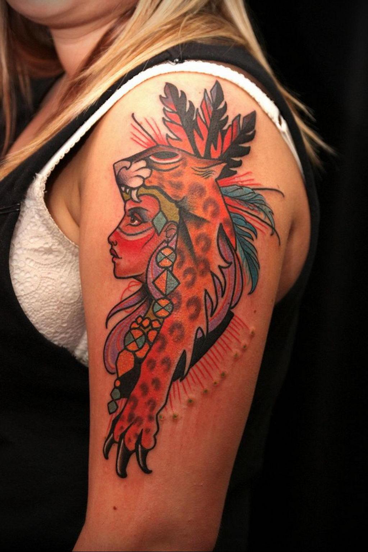 Фото тату Гепард 12.01.2020 №008 -cheetah tattoo- tatufoto.com