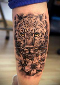 Фото тату Гепард 12.01.2020 №011 -cheetah tattoo- tatufoto.com