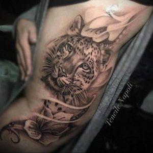 Фото тату Гепард 12.01.2020 №033 -cheetah tattoo- tatufoto.com
