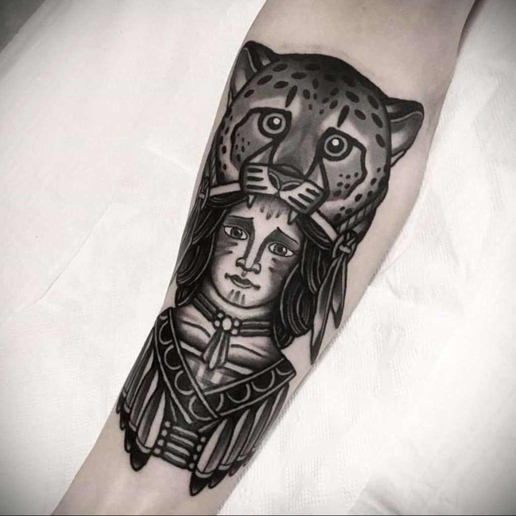 Фото тату Гепард 12.01.2020 №047 -cheetah tattoo- tatufoto.com