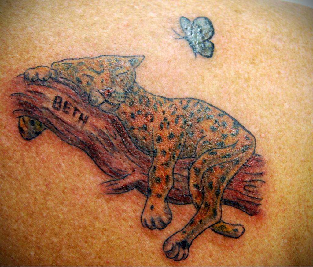 Фото тату Гепард 12.01.2020 №079 -cheetah tattoo- tatufoto.com