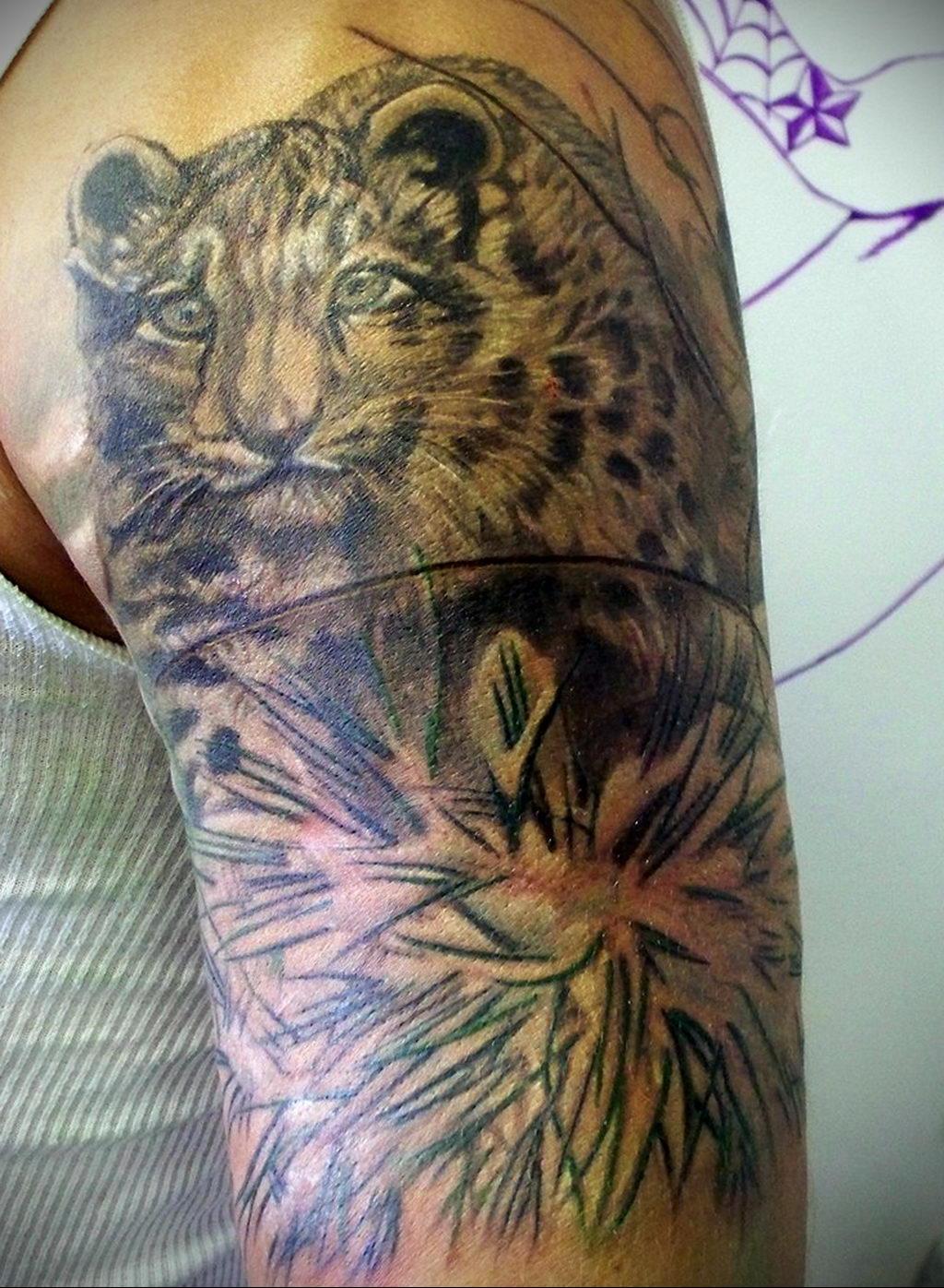 Фото тату Гепард 12.01.2020 №082 -cheetah tattoo- tatufoto.com