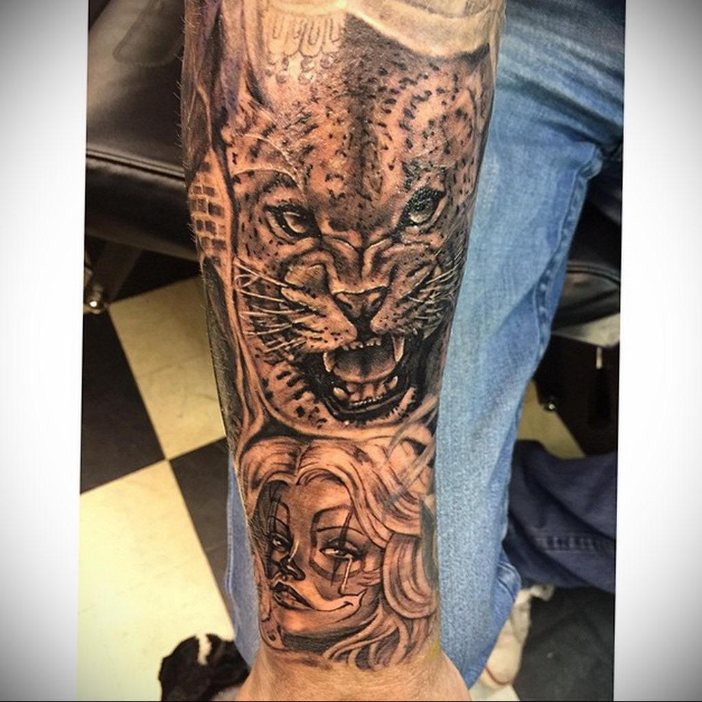 Фото тату Гепард 12.01.2020 №145 -cheetah tattoo- tatufoto.com