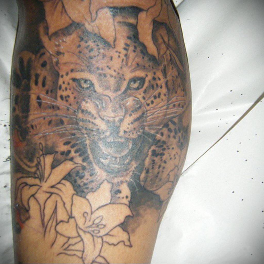 Фото тату Гепард 12.01.2020 №146 -cheetah tattoo- tatufoto.com