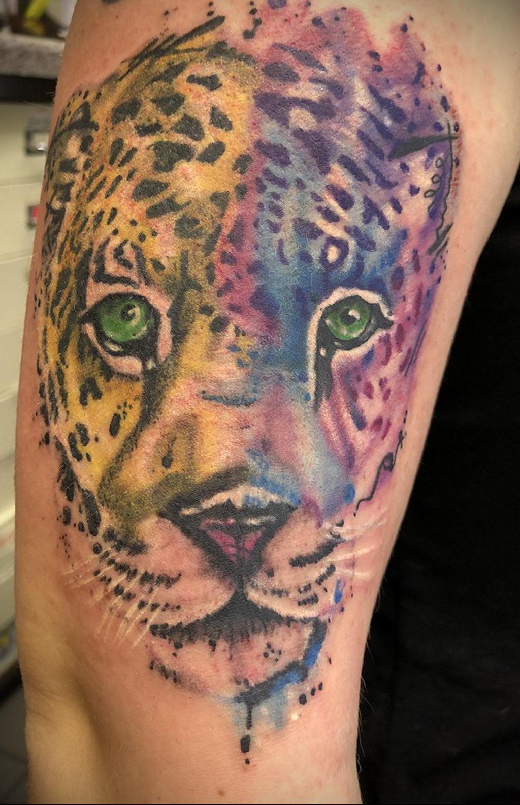 Фото тату Гепард 12.01.2020 №155 -cheetah tattoo- tatufoto.com