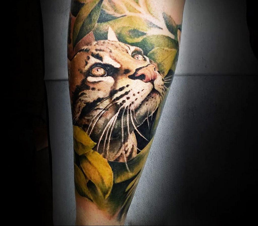 Фото тату Гепард 12.01.2020 №169 -cheetah tattoo- tatufoto.com