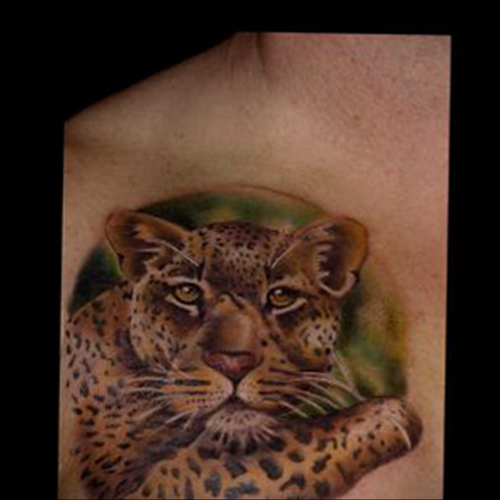 Фото тату Гепард 12.01.2020 №185 -cheetah tattoo- tatufoto.com