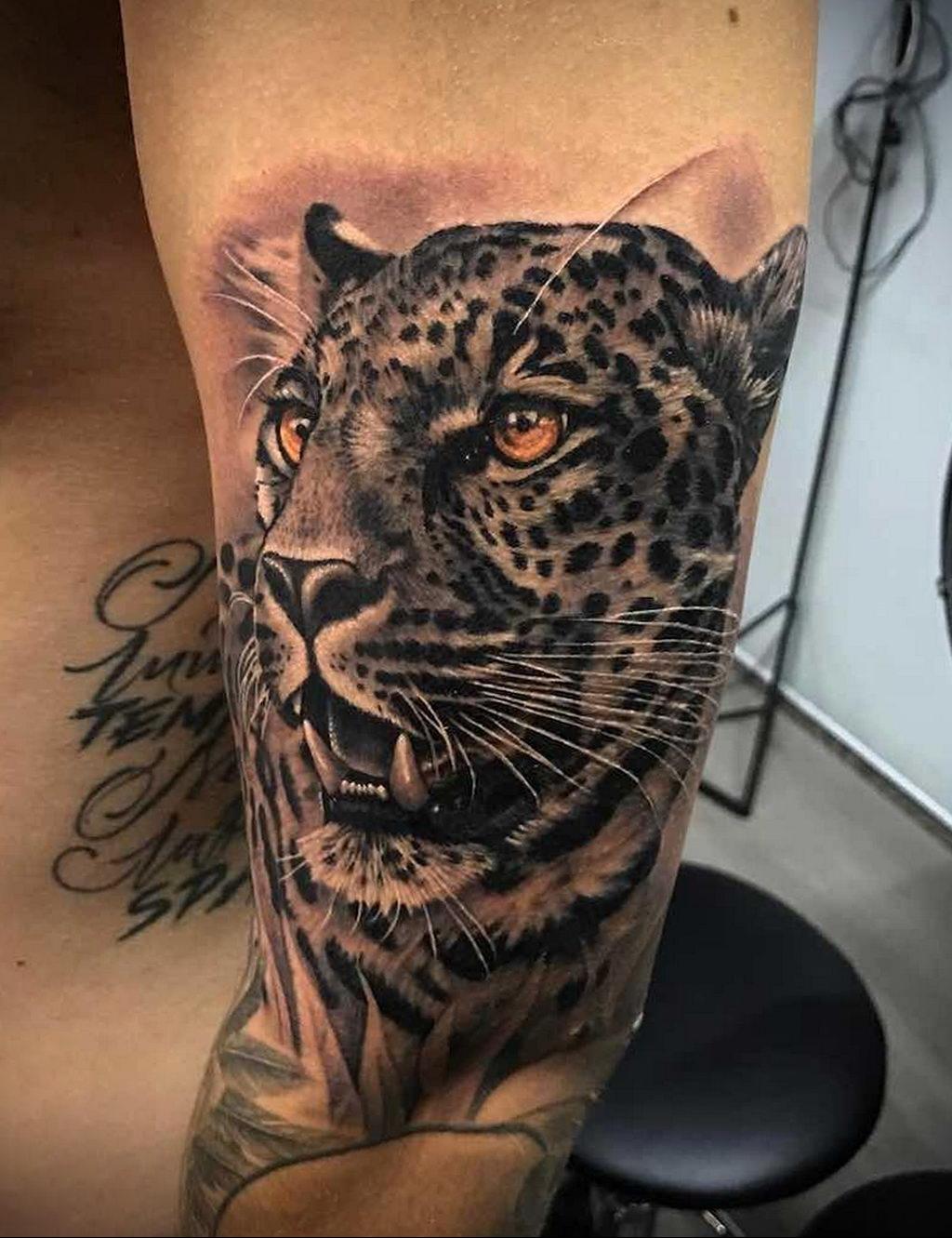 Фото тату Гепард 12.01.2020 №186 -cheetah tattoo- tatufoto.com