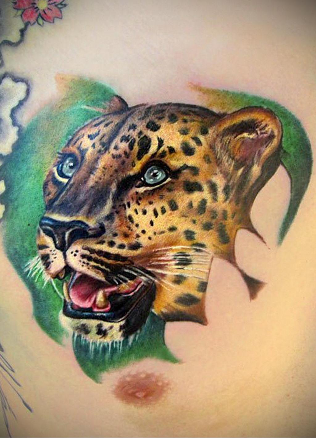 Фото тату Гепард 12.01.2020 №272 -cheetah tattoo- tatufoto.com