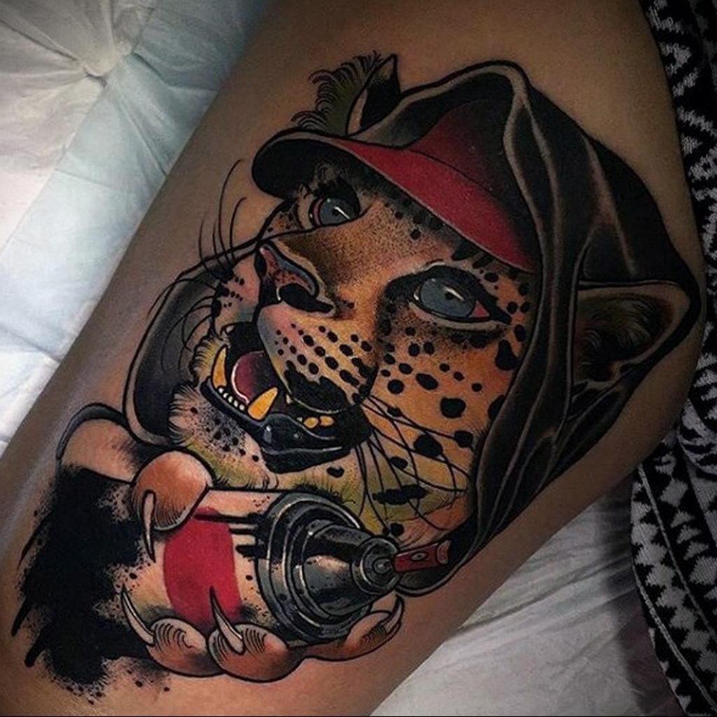 Фото тату Гепард 12.01.2020 №289 -cheetah tattoo- tatufoto.com