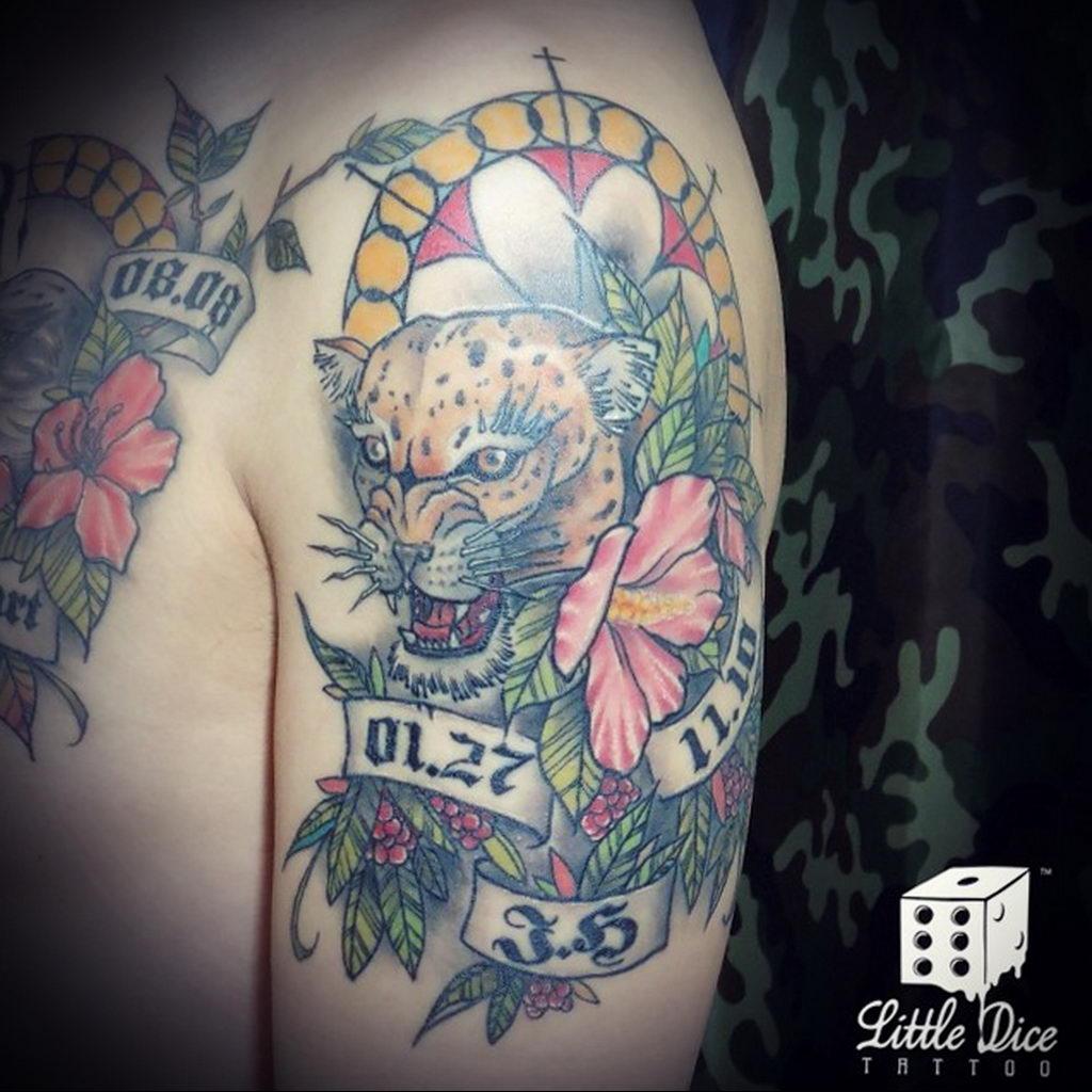 Фото тату Гепард 12.01.2020 №290 -cheetah tattoo- tatufoto.com