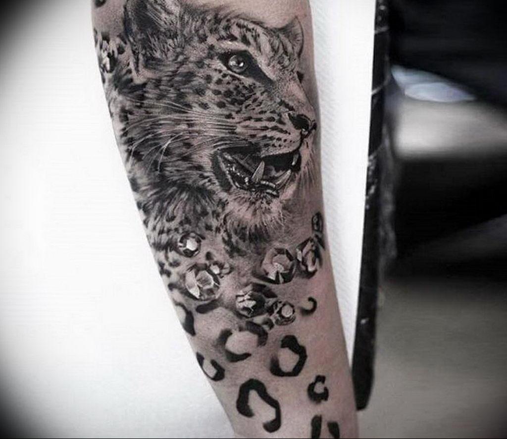 Фото тату Гепард 12.01.2020 №292 -cheetah tattoo- tatufoto.com
