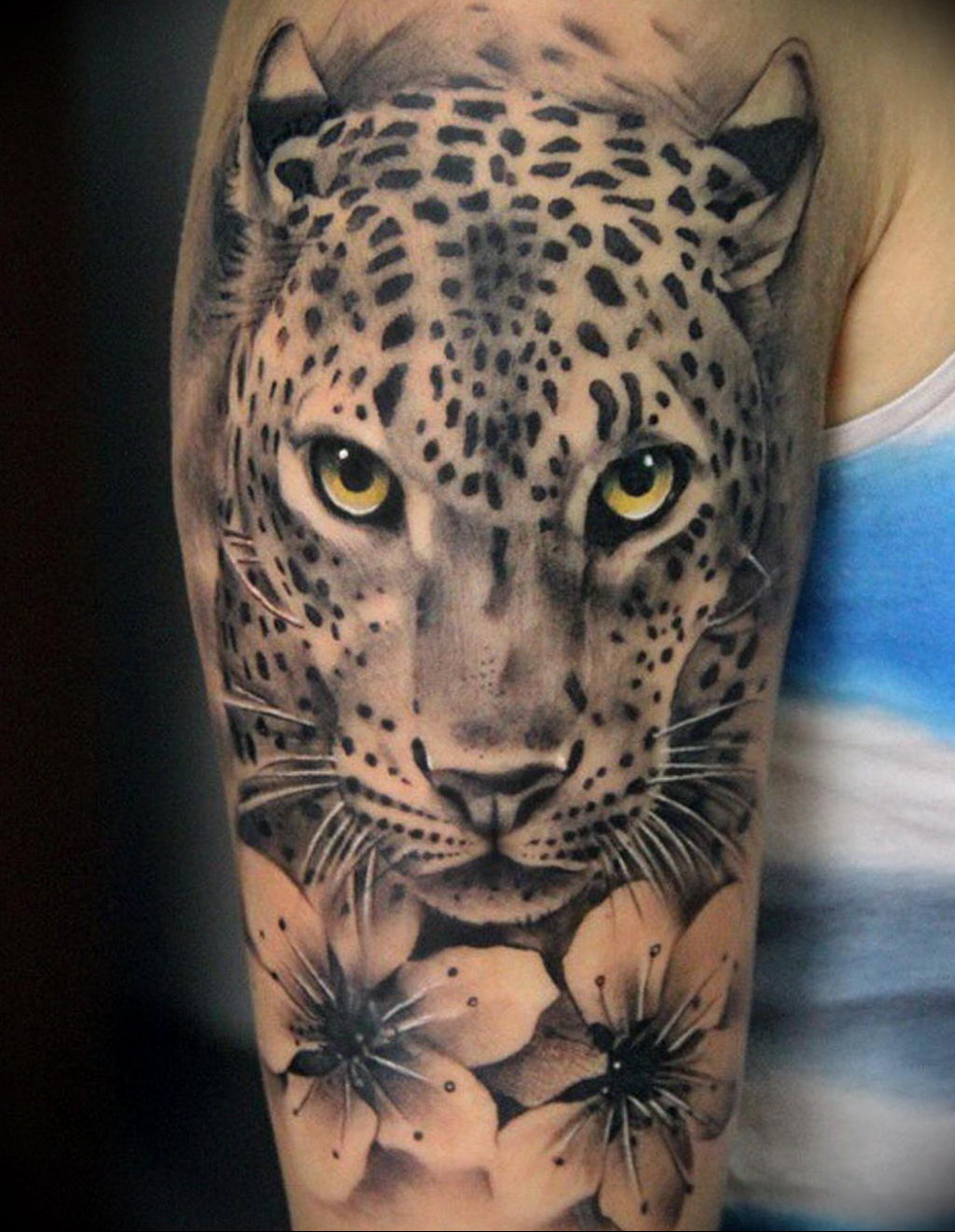 Фото тату Гепард 12.01.2020 №297 -cheetah tattoo- tatufoto.com