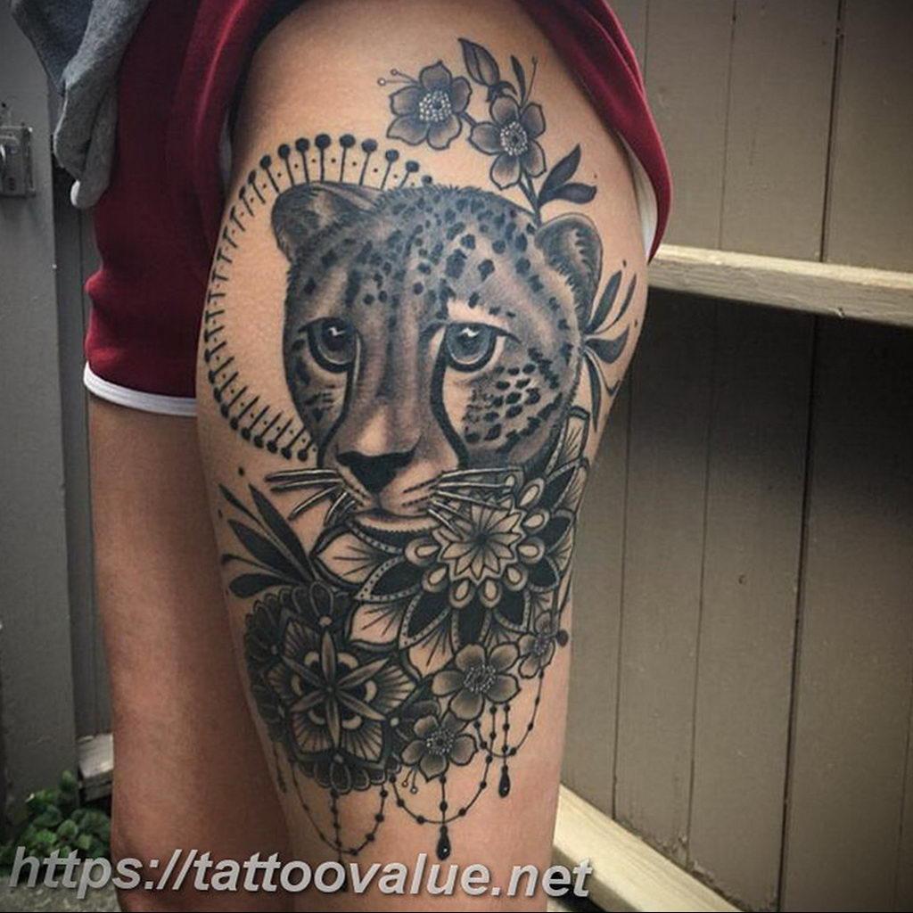 Фото тату Гепард 12.01.2020 №298 -cheetah tattoo- tatufoto.com
