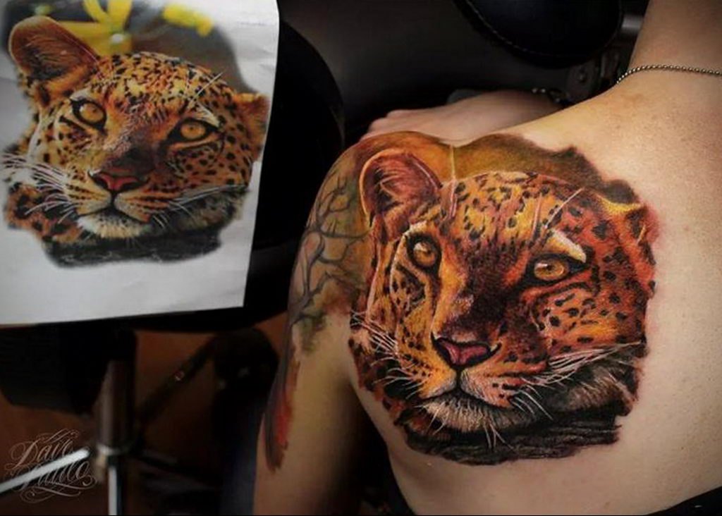 Фото тату Гепард 12.01.2020 №319 -cheetah tattoo- tatufoto.com