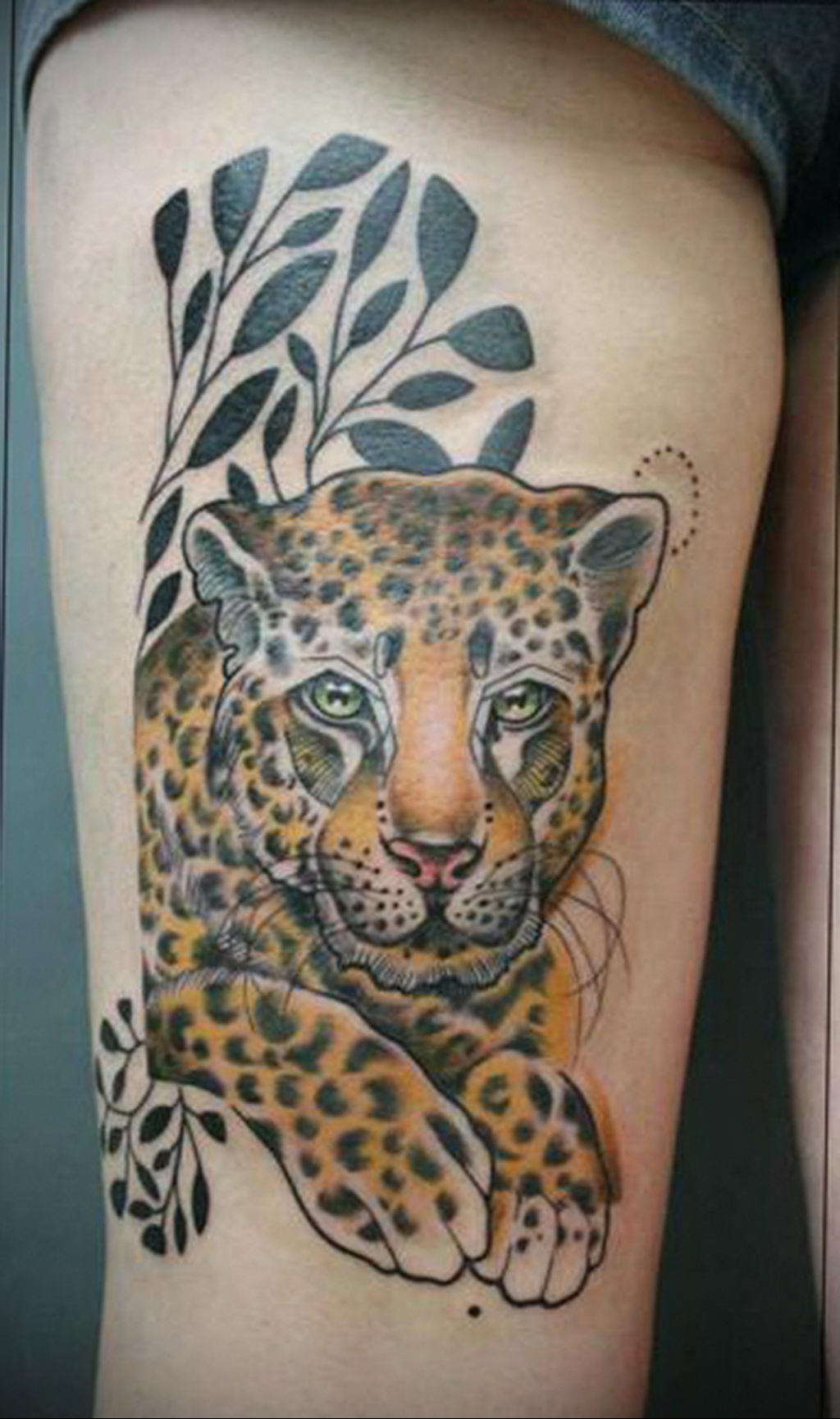 Фото тату Гепард 12.01.2020 №322 -cheetah tattoo- tatufoto.com