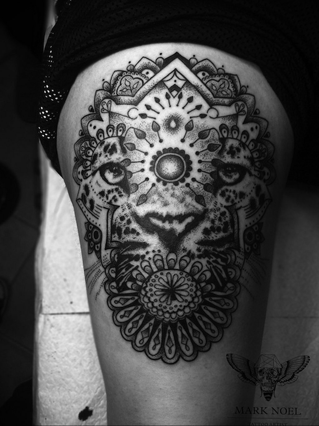 Фото тату Гепард 12.01.2020 №323 -cheetah tattoo- tatufoto.com
