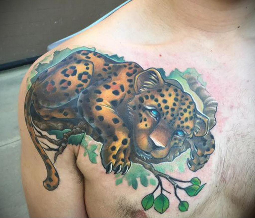 Фото тату Гепард 12.01.2020 №336 -cheetah tattoo- tatufoto.com