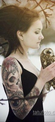 крутая женская татуировки 21.01.2020 №412 -cool female tattoos- tatufoto.com