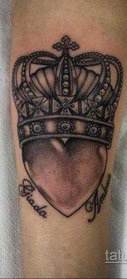 фото тату корона на запястье для девушек 02.01.2020 №1021 -crown tattoo- tatufoto.com