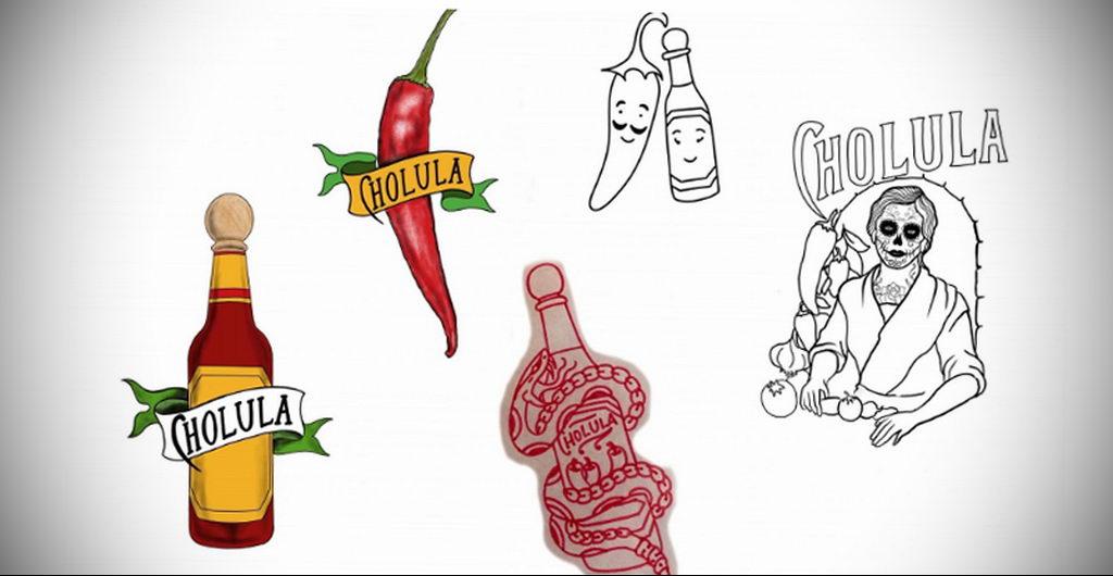 Cholula (Чолула) предлагает любителям сделать рекламную татуировку - фото 2
