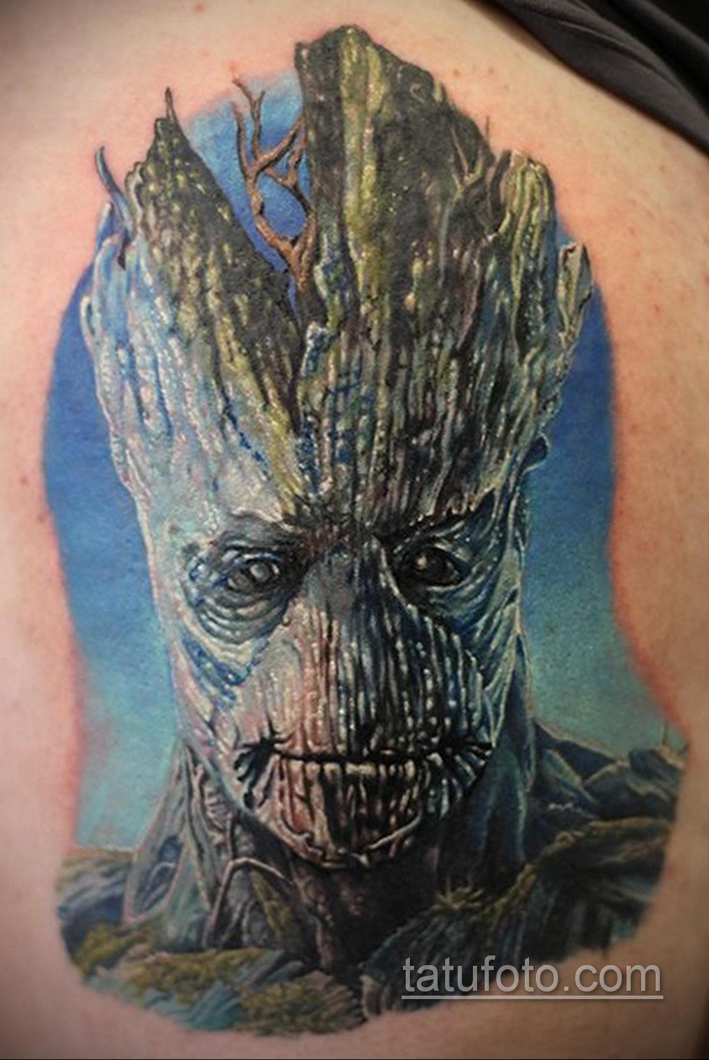 Tattoo Superhero Groot 15.01.2020 №003 -Marvel Tattoo- tatufoto.com