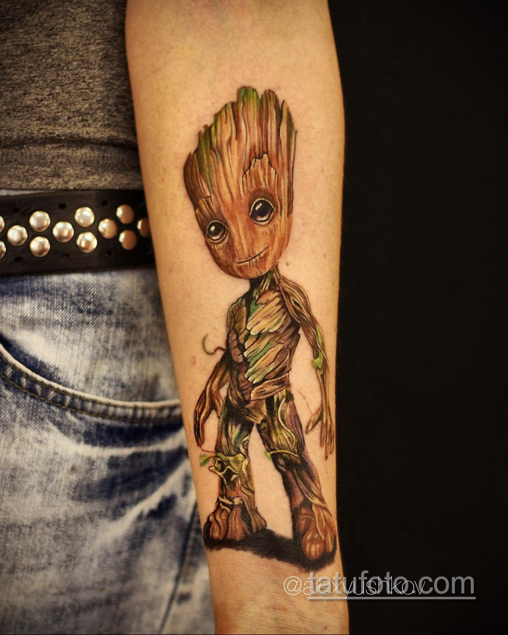 Tattoo Superhero Groot 15.01.2020 №008 -Marvel Tattoo- tatufoto.com