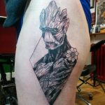 Tattoo Superhero Groot 15.01.2020 №009 -Marvel Tattoo- tatufoto.com