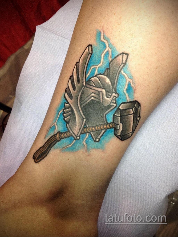 Tattoo Superhero Thor 15.01.2020 №006 -Marvel Tattoo- tatufoto.com