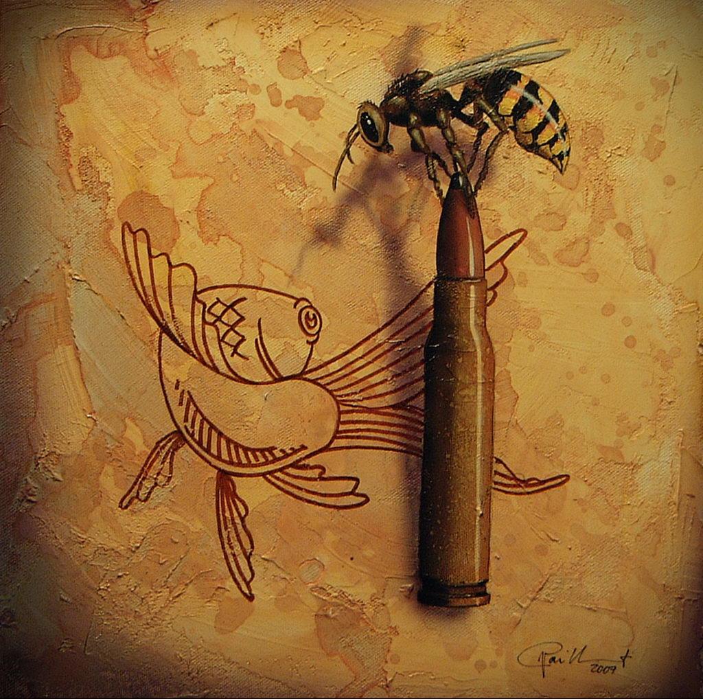 drawing wasp 07.01.2020 №1042 -wasp tattoo sketch- tatufoto.com