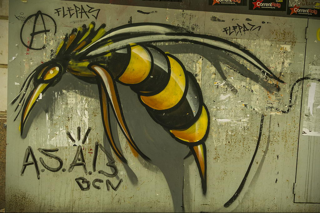 drawing wasp 07.01.2020 №1090 -wasp tattoo sketch- tatufoto.com