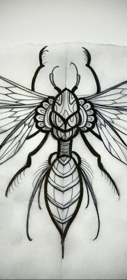 wasp tattoo sketch 07.01.2020 №031 -wasp tattoo sketch- tatufoto.com
