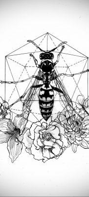 wasp tattoo sketch 07.01.2020 №051 -wasp tattoo sketch- tatufoto.com
