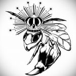 wasp tattoo sketch 07.01.2020 №067 -wasp tattoo sketch- tatufoto.com
