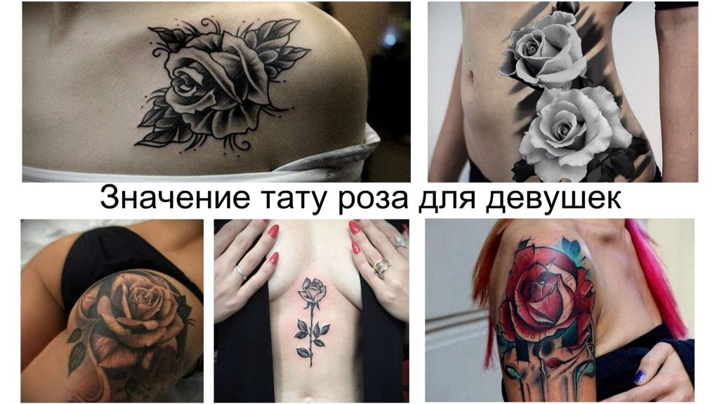 Значение тату роза для девушек - информация про особенности и фото коллекция готовых рисунков татуировки