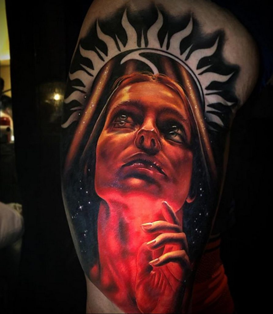 Фото татуировки сделанной в ходе тату конвенции GOLDEN STATE TATTOO EXPO 2020 21