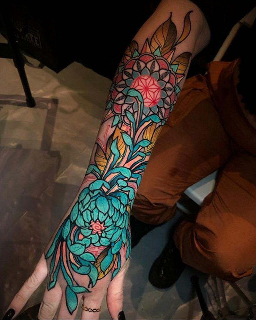 Фото татуировки сделанной в ходе тату конвенции GOLDEN STATE TATTOO EXPO 2020 28