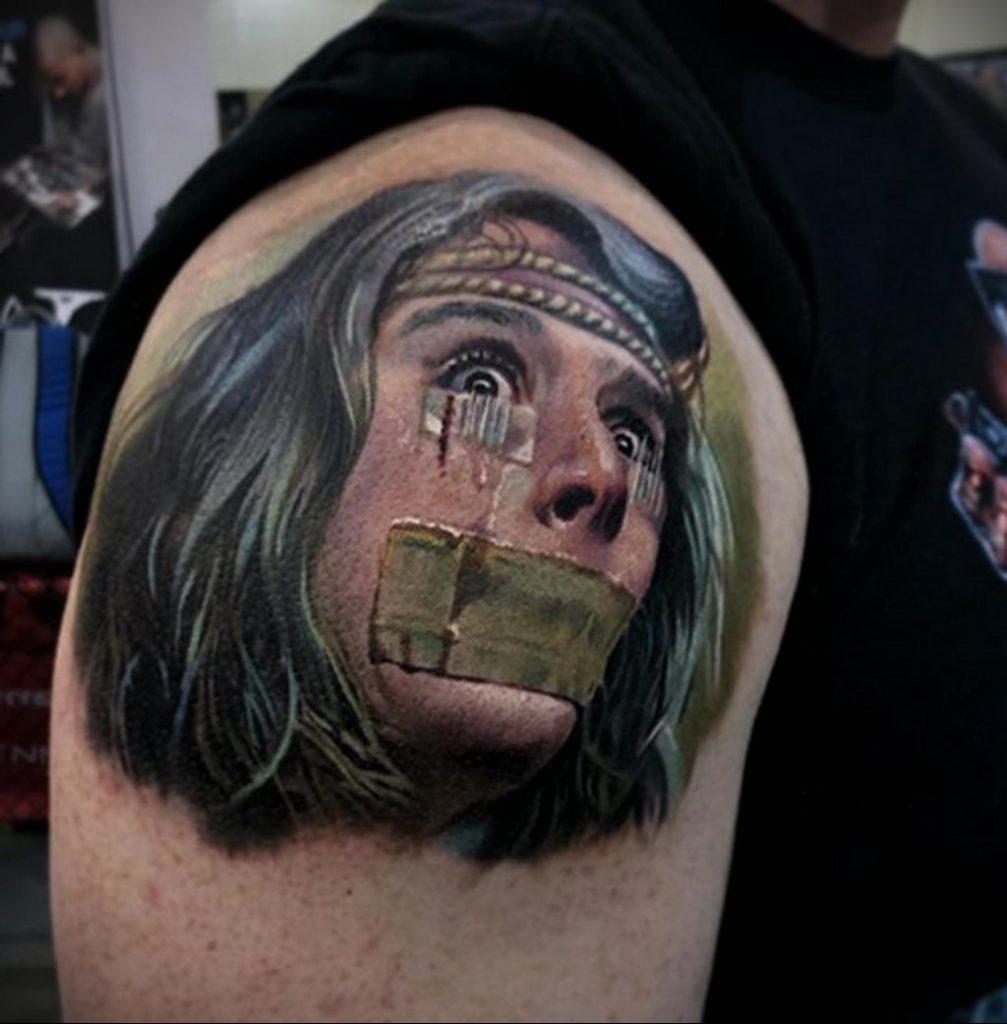Фото татуировки сделанной в ходе тату конвенции GOLDEN STATE TATTOO EXPO 2020 7